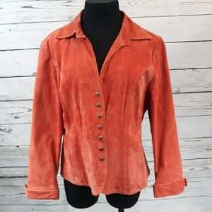 Christopher & Banks suede leather jacket, size L